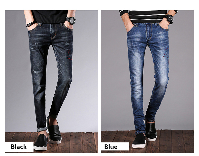 KSTUN Men Jeans Pants Denim Fashion Desinger Black Blue Stretch Slim Fit Jeans for Man Streetwear Cowboys Hiphop calca masculina 15