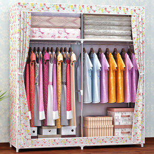 Image 5 - COSTWAY Cloth Wardrobe For clothes Fabric Folding Portable Closet Storage Cabinet Bedroom Home Furniture armario ropero muebles