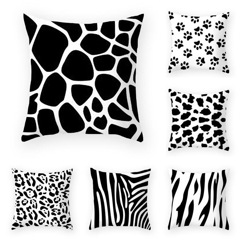 Fantastic Us 3 07 29 Off 45Cm 45Cm Animal Skin Pattern In Black And White Geometr Super Soft Throw Pillow Covers Couch Cushion Covers Decorative Pillows In Caraccident5 Cool Chair Designs And Ideas Caraccident5Info