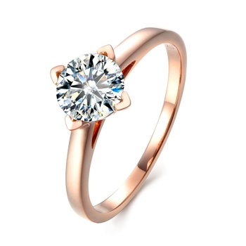 Round Brilliant Cut 5ct Lab Grown Diamond Solitaire Ring 14k Rose Gold Engagement Ring Moissanites Wedding Rings Size 4-10