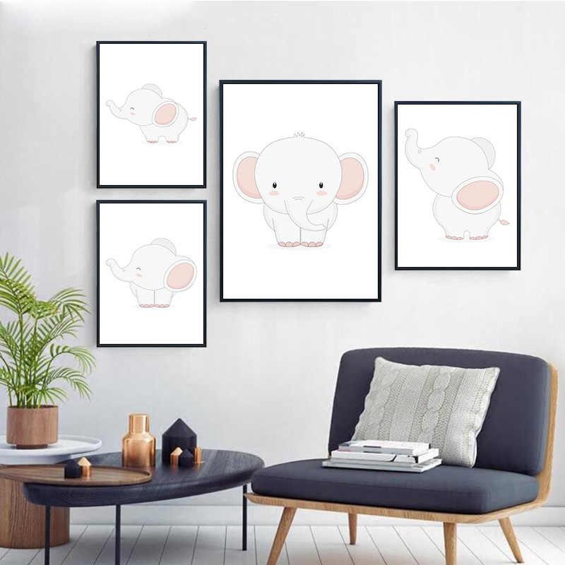 Prints Baby Elephant Cartoon Animals