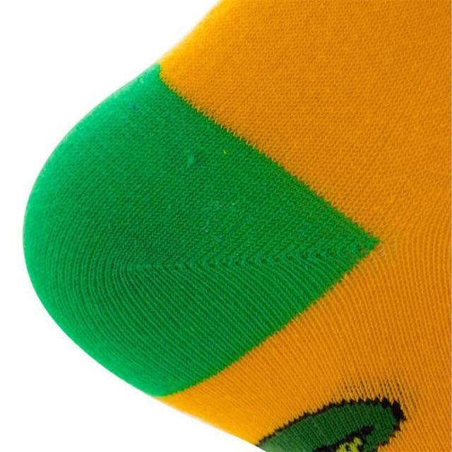 MYORED 1 pair men socks cotton funny crew cartoon animal fruit dog women novelty gift socks 3