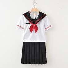 2018 Sailor Suit Students School Uniforms Uniform For Teens Preppy Style Cos Jk Japanese Girls Seifuku Bow Skirt Shirt