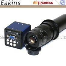 Big sale 2.0MP 1/3 inch Sensor digital industry microscope camera VGA outputs+10X~300X Adjustable Magnification 25mm Zoom C-mount Lens