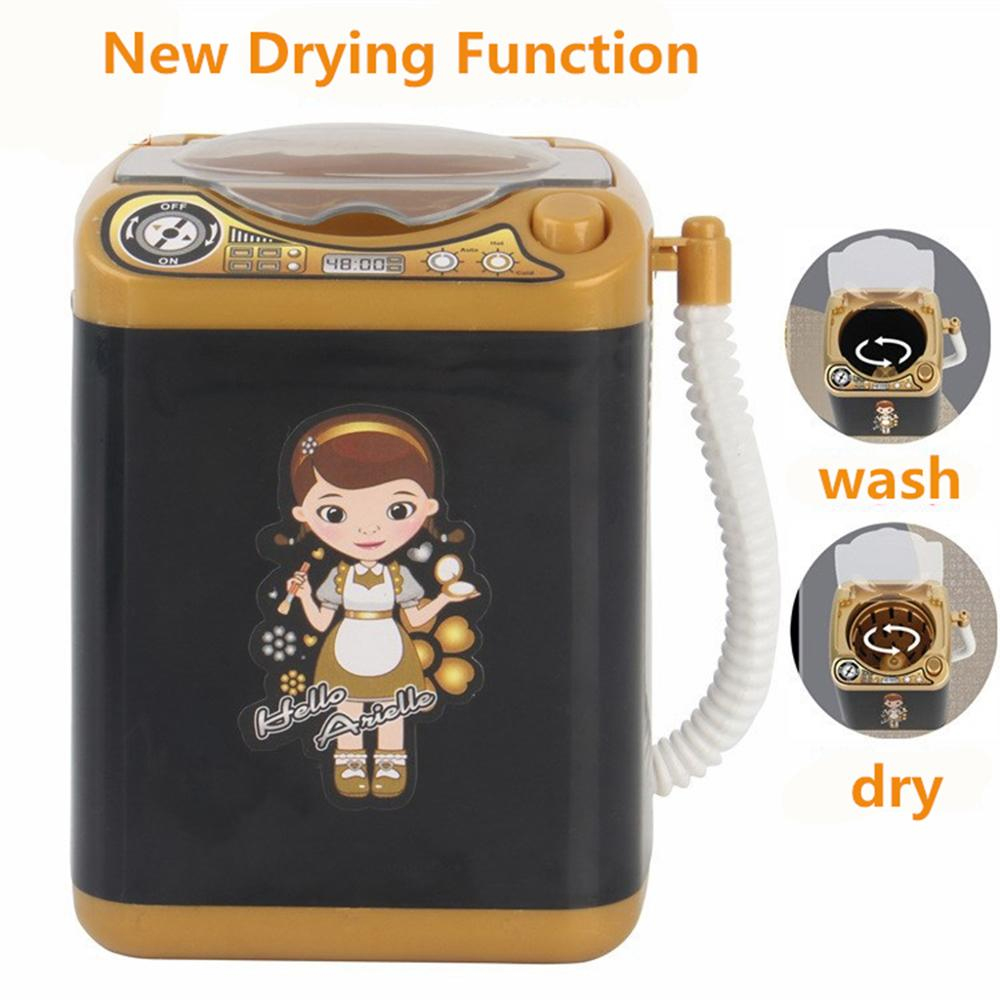 New Mini Multifunction Kids Washing Machine Toy Beauty Sponge Brushes Washer Pretend Play Toys With Dry Function