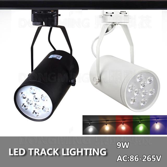 2pcslot 9w track light energy saving 780lm whiteblack cerohs ac85 2pcslot 9w track light energy saving 780lm whiteblack cerohs ac85 265v aloadofball Gallery