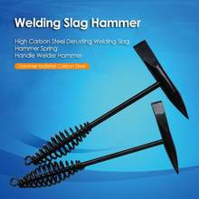 Martelo de aço carbono alto 300g/500g do soldador do punho da mola de 16cm derusting da escória da soldadura