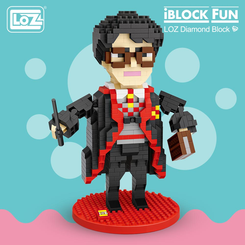 все цены на LOZ Blocks Character Anime Magician Movie Action Figure Block Plastic Assembly Toys Educational Diamond Block Nano Brick 9793 онлайн