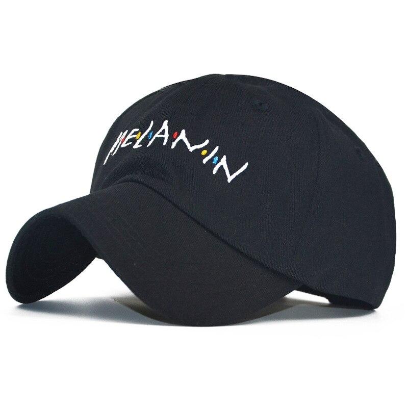 2019 nuovo arrivo MELANINA lettera del ricamo donne del berretto da  baseball del cappello di snapback a8f40ed18728