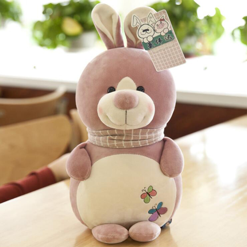 22cm/33cm Cute Soft Staffed Toys For Children Pig Rabbit Bear Plush Toys Childrens Gift