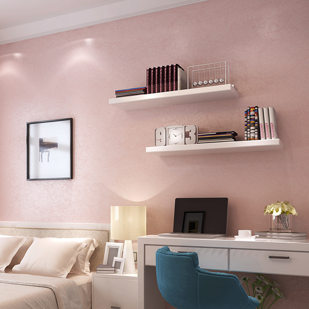 HaokHome Solid Color Non Woven Wallpaper Baby Pink Modern Silk Wall covering Simple Wall Paper for Living room Bedroom Decor pink lattice wallpaper roll children s room girls and boys wall paper modern simple non woven background wall covering wallpaper