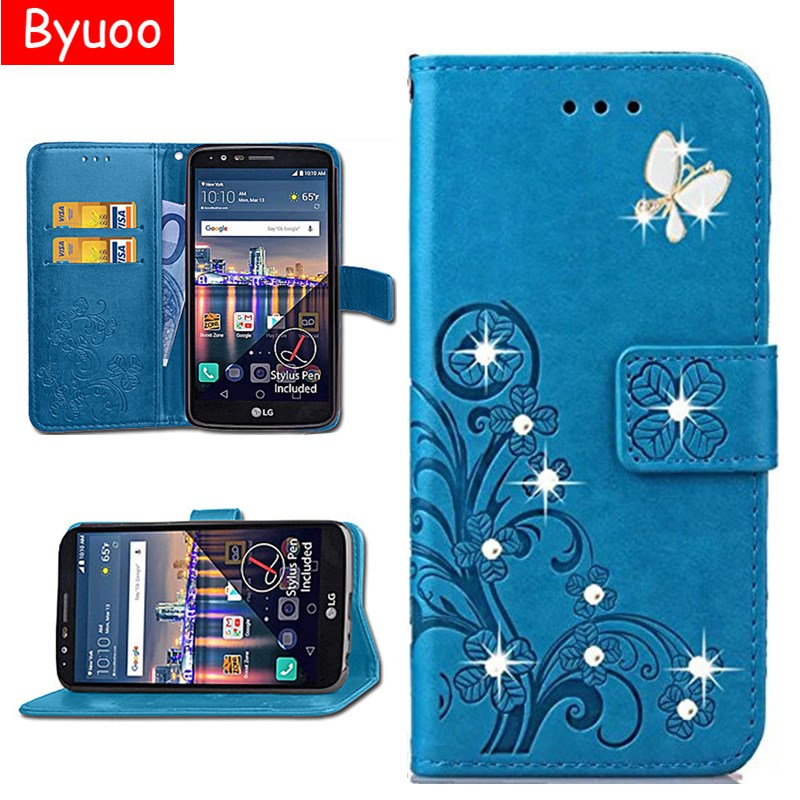 1b23262b6b2 Flip PU Leather 3D Bling Case Card Slot Coque Cover For LG G3 G4 G5 G6 G3 /  G4 Stylus Stylus 2 K3 K4 K5 K8 K10 2017 V10 V30 V20