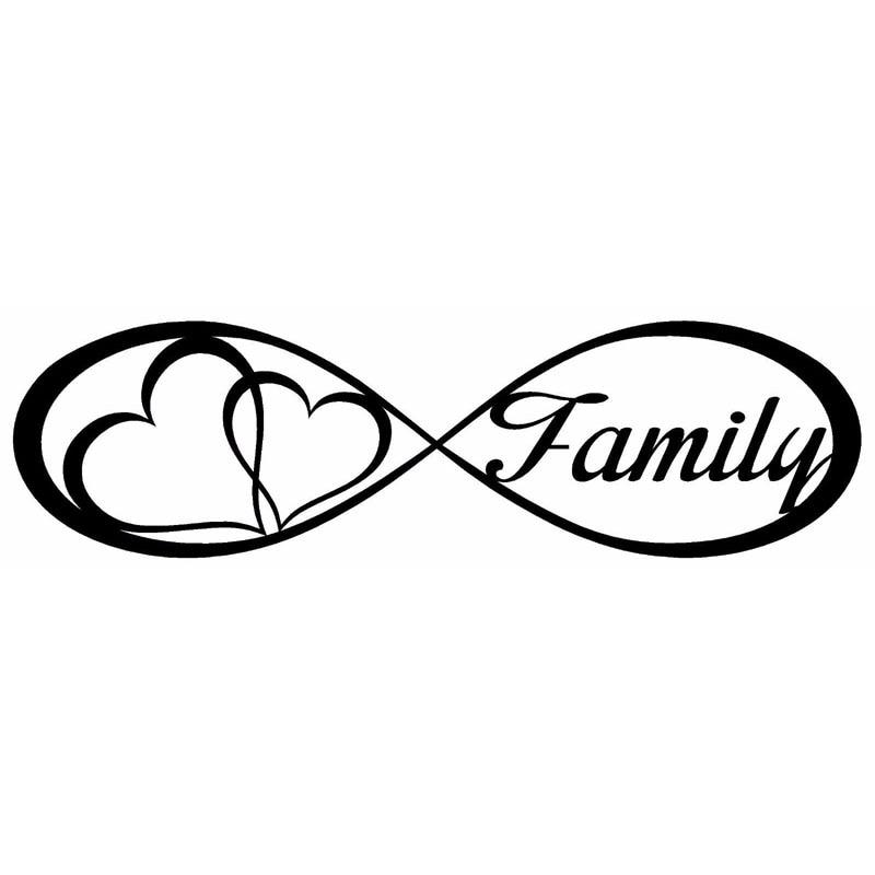 Acheter 20x5 6 cm famille amour coeur infinity forever symbole vinyle stickers - Symbole representant la famille ...