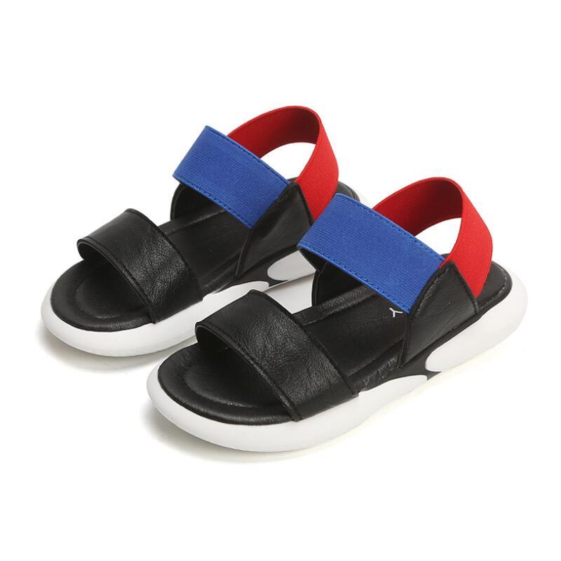 SKHEK Boy Girls Sandals 2019 New Summer Child Slip Soft bottom Children 39 s shoes Boy shoe Kids Beach Sandal Black White Size26 35 in Sandals from Mother amp Kids