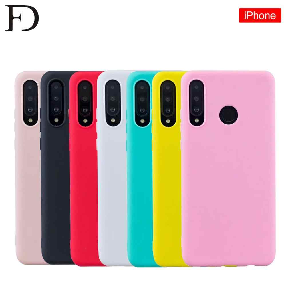 New Original FD Logo Silicone Case For Iphone 7 Plus Case Liquid Cover For IPhone X XS MAX XR For Apple Iphone 6 6S 7 8 plus