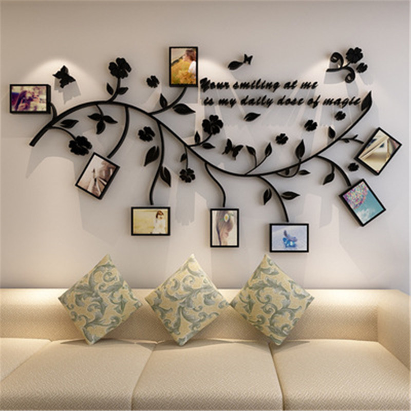 KEDODE Photo wall creative 3D crystal stereo TV background wall stickers living room wall decoration