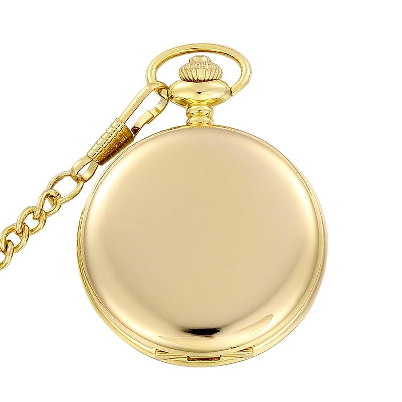 Rational Luxus Römischen Ziffern Voller Gold Polieren Quarz Taschenuhr Fob Taille Kette Für Männer Und Frauen Geschenk