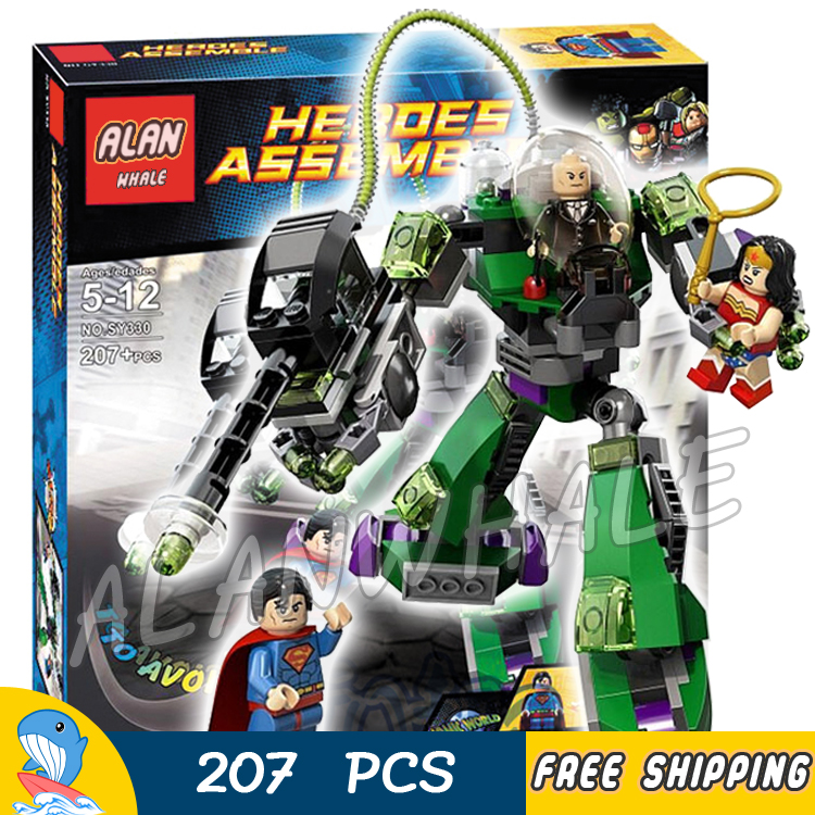 20Bela SY330 superheroes Superman Vs Power Armor Lex Wonder Woman Luthor Set Building Bricks Blocks Compatible With Lego