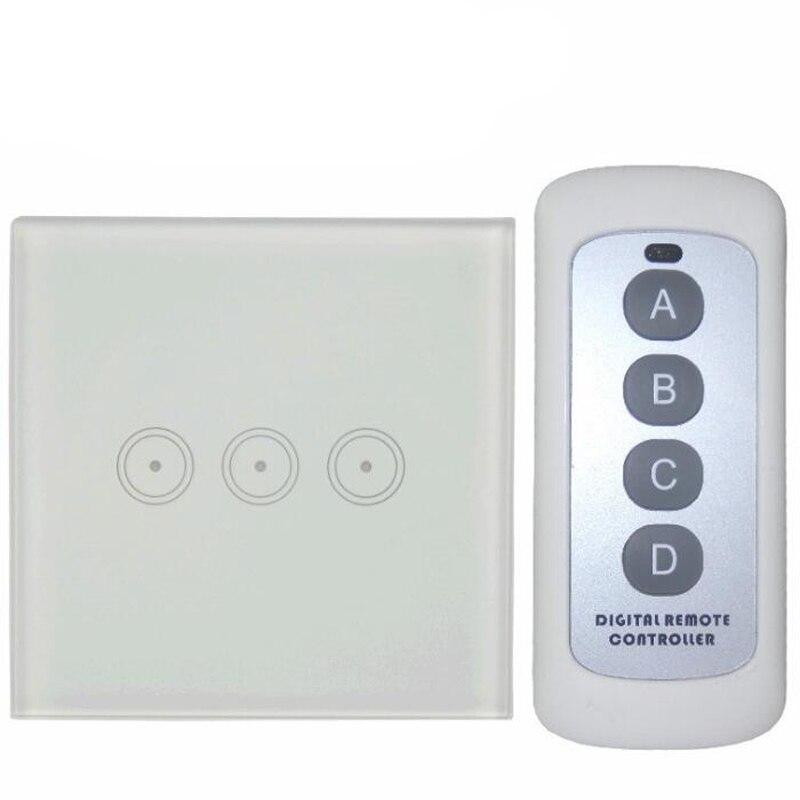Chaap Precio 3 Gang Táctil de Interruptor de Control Remoto Casa Inteligente Lám