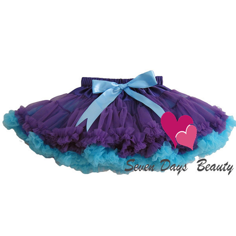 Baby Girls Knee Length Chiffon Fluffy Pettiskirts Tutu Princess Patchwork Party Skirts Children Ball Gown Clothing