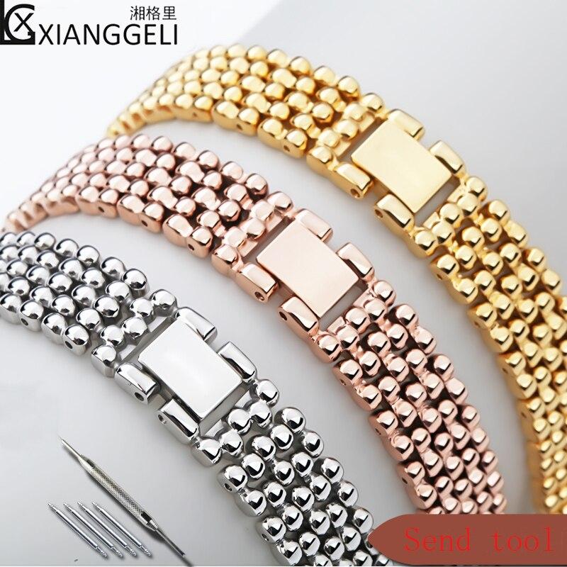 Montre accessoire bracelet dames or argent Rose or acier inoxydable bracelet étanche pour Swarovski Tissot Longines bracelet 12mm