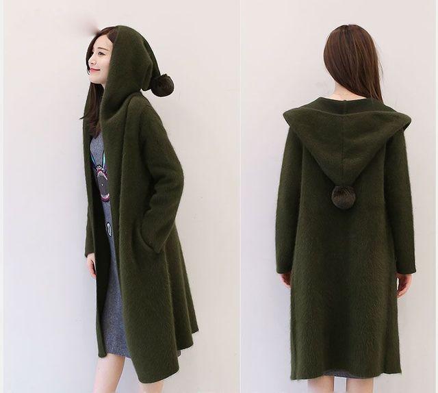 02ffa52bc410 En el largo invierno personalizado suéter de la rebeca femenina damas  engrosamiento de cachemira de visón