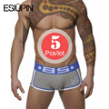 ESIUPIN Brand 5pcs/lot Underwear Men Cotton Sexy Cueca Boxers Men Boxer Shorts Slip BS003