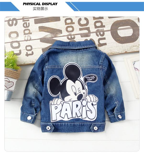 Dulce Amor Children Denim Jacket Coat 2018 New Autumn Kids Fashion Patch Outerwear Baby Boy Girl Hole Jeans Coat Drop Shipping