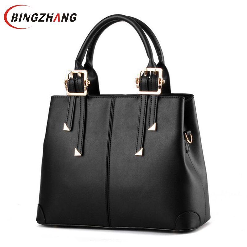 2019 New Bags For Woman Elegant Classic Fashion Ladies Occident Style Handbags Solid Color Yellow Pink Green Red Totes  L8-361