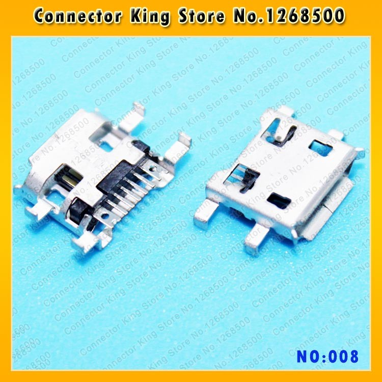 ChengHaoRan Micro USB 2.0 Female Connector/USB Jack Mobile Phone Tablet Micro USB Jack Charge Socket 7-pin 7P,MC-008