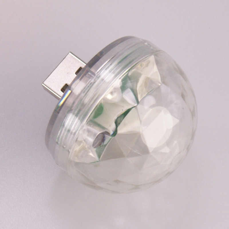 Мобильный телефон магический свет шар Звук управление клуб Кристалл светодиодный мини Дискотека вечерние лампы сценический бар голосовой активированный USB