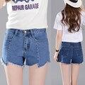 2016 Fashion new Women shorts Denim bermudas femininas para senhoras short feminino short jeans cintura alta cintura alta