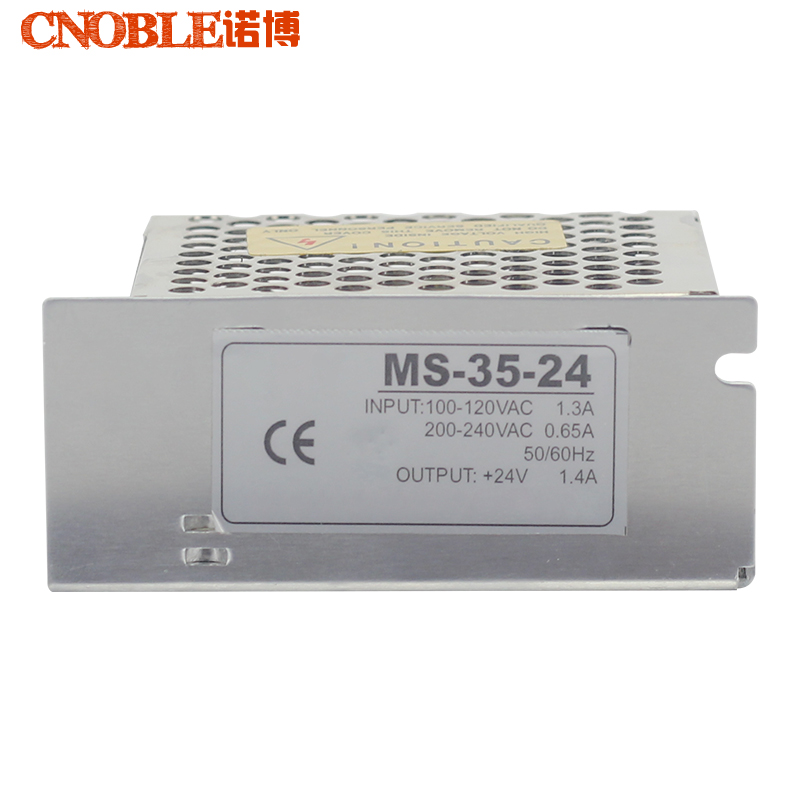 MS-35-24 Mini Size Steady CE Approved  Transformer 220V AC to 24V DC, Variable Power Supply 1.5amp Aluminium Case ce approved 120w transformer 220v 24v