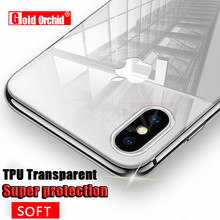 Gold Orchid Ultra Thin Soft TPU Transparent For iPhone 4 5 6 7 Plus Case For iPhone X 8 8 Plus Case Crystal Clear Silicon Cover