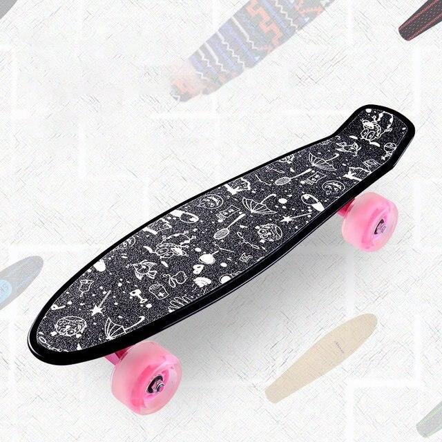 22inch Board Sticker Skateboard Sticker Solid/Printed Anti slip Waterproof Adhesive Single Rocker Sandpaper for Penny Board
