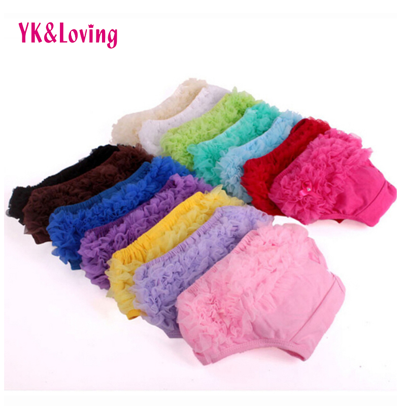 Baby Cotton Bloomers Ruffled Panties Baby Girls 15 Colors Cute Diaper Coves Infant Toddle Tutu Short PP Solid Silicone Reborn