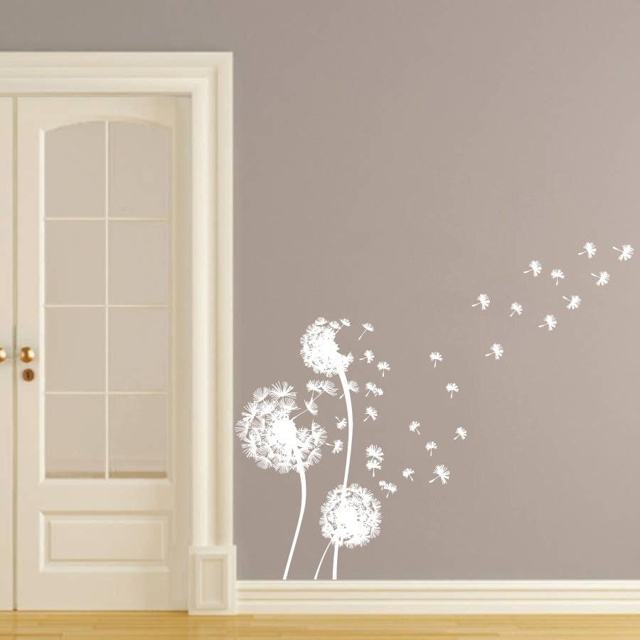 Dandelion Wall Art Dandelion Decor Black White Bedroom: White Dandelion Wall Decals Beautiful With An Artistic