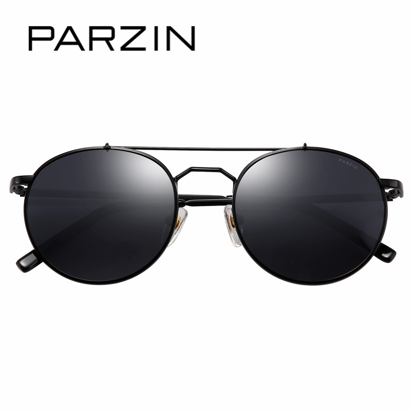 PARZIN Brand Retro Round Children Sunglasses High Quality Real Polarized Lens Glasses For 8-14 Years Old Top Grade Glasses 8123 high quality iron wire frame sun glasses women retro vintage 51mm round sn2180 men women brand designer lunettes oculos de sol