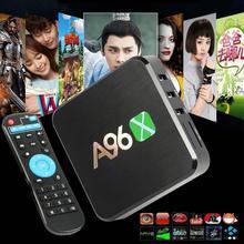Nueva A96X procesador ARMv7 Amlogic Quad Core 64Bit Android 6.0 2.0A Malvavisco 1 GB + 8 GB WIFI HDMI Inteligente IPTV CUADRO de TV XBMC