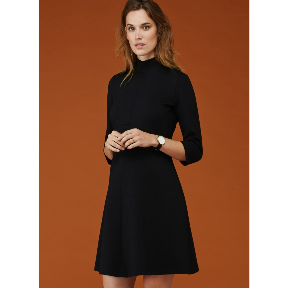 7171a2f0cfc37 Winter Turtleneck Long Sleeve Dress for Pregnant Women Maternity Dresses  Elegant Black Office Lady Maternity Clothes Plus Size - aliexpress.com -  imall.com