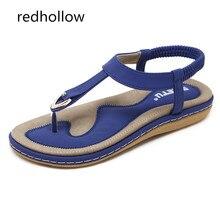 Women Sandals Summer Bohemia Flat Sandals Fashion Woman Flip Flops Vintage Shoes Rome Beach Comfort Lady Shoes Sandalias Mujer стоимость