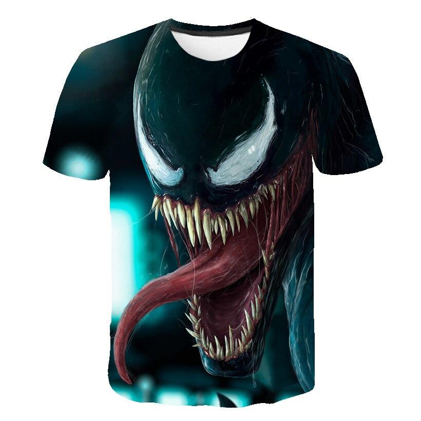 Новейшая футболка Веном с 3D принтом, футболка s для мужчин и женщин, Повседневная футболка с коротким рукавом для фитнеса, футболка Дэдпул, футболки с черепом, топы азиатского размера - Цвет: 1585