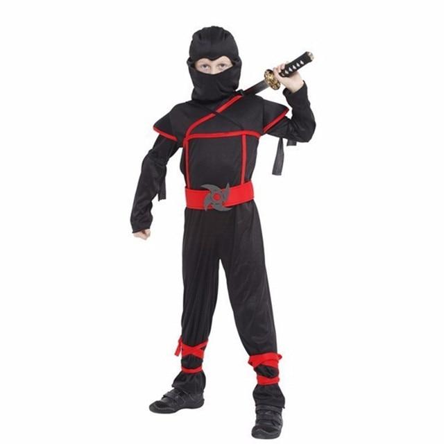 c0778429c Meninos Roupas Definir Naruto ninja preto guerreiro Cosplay Para Crianças  Presente de Natal