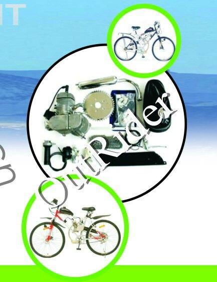БЕСПЛАТНАЯ ДОСТАВКА В США/ КАНАДЕ !Орк-POWERG высокое качество нового 80CC 2-тактный моторизованный газового двигателя мотора Набор для велосипеда