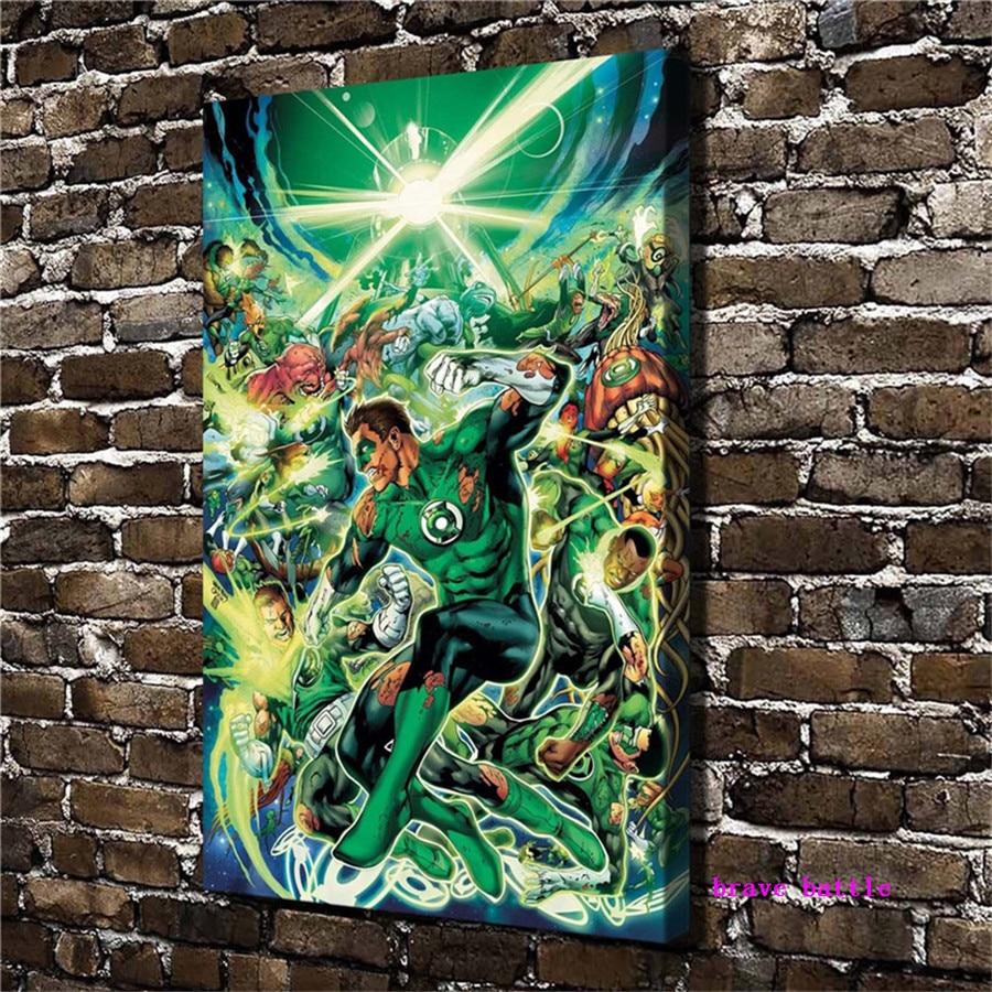 HD Print Oil Painting Home Decor Art on Canvas Green Lantern 12x18inch Unframed