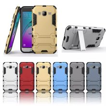 Slim Solid Armor Defender Case TPU Shell Stand Cover For Samsung Galaxy J1 Ace J1 J3 J5 J7 2015 A3 A310 A5 A510 A7 A710 2016 On7