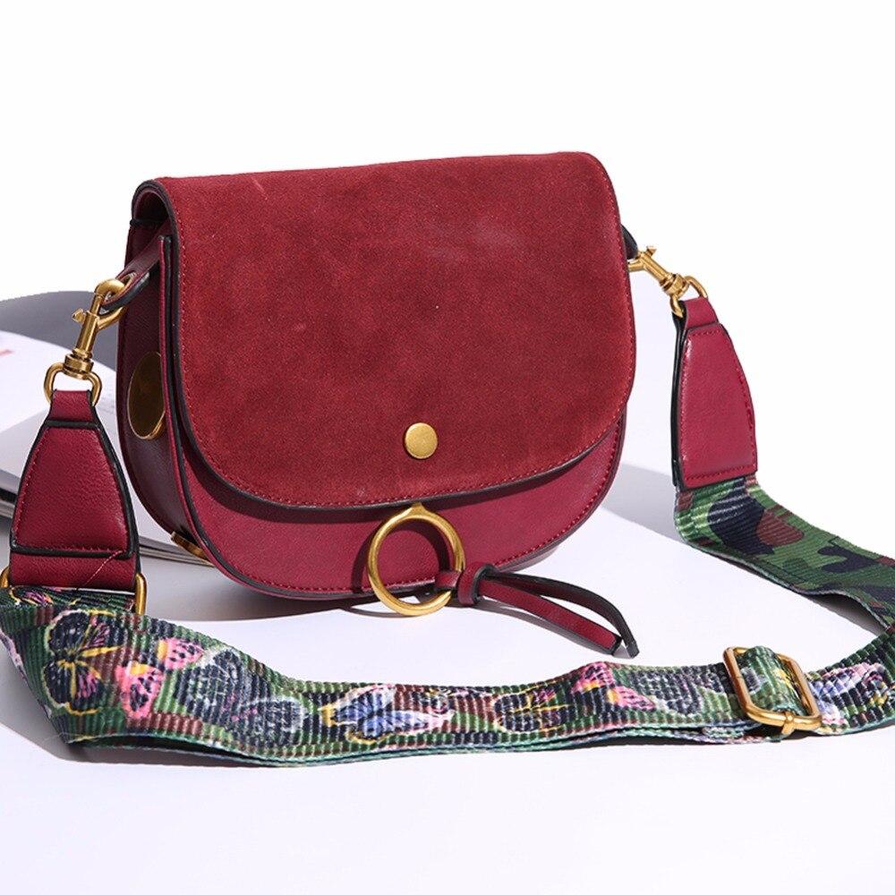 14eaddb1a0b Women Bag Bolsas Wide Colorful Strap Shoulder Bag Handbag Suede Leather  Women Messenger Bags Good Quality Pouch