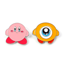 Pocker monsters Kirby cute kids cosplay women 90s funny cartoon backpack clothes diy decoration Enamel Brooches badge collar pin
