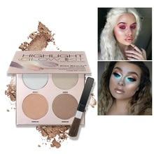 2017 Brilho Iluminador Kit Paleta de 4 Cores Enfrentar Maquiagem Em Pó Iluminador Bronzer Highlighter Highlighter D2