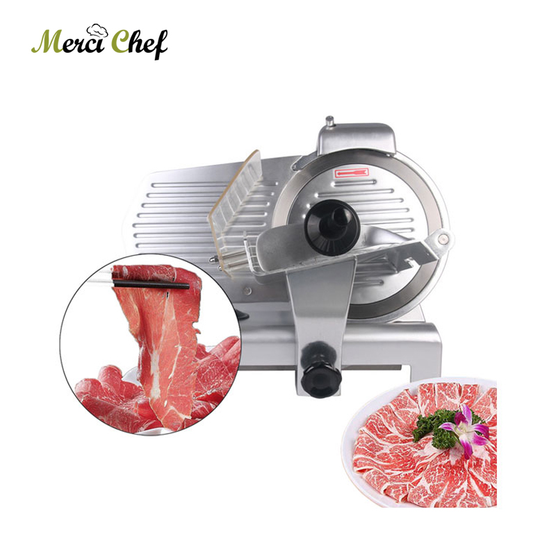 Food Machine Commercial Meat Slicer Household Electric Meat Cutter Sliceable Pork Frozen Meat Cutter Slicer Cutting Machine 110V